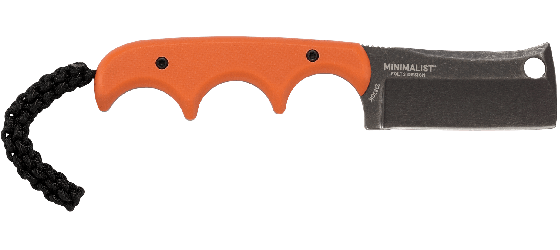 MINIMALIST® CLEAVER ORANGE WITH BLACK D2 BLADE STEEL