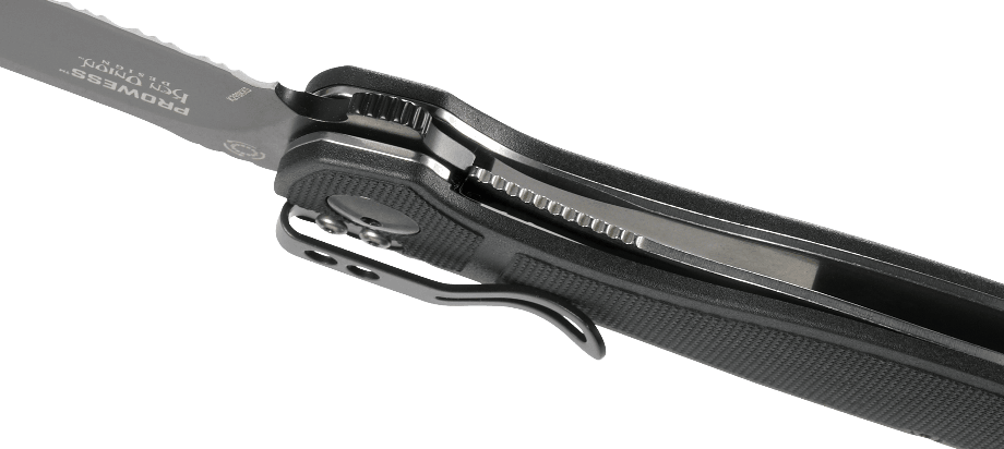 PROWESS™ BLACK WITH TRIPLE POINT™ SERRATIONS