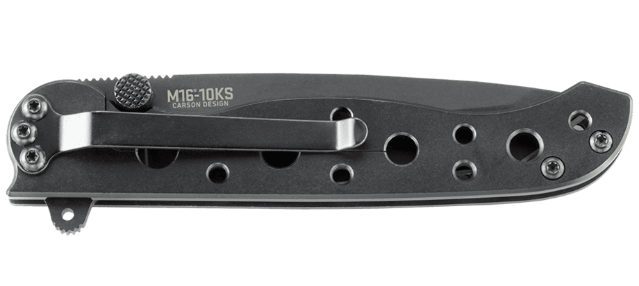 M16® - 10KS TANTO BLACK WITH TRIPLE POINT™ SERRATIONS STAINLESS STEEL HANDLE