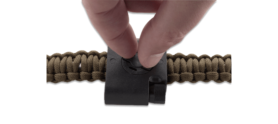 STOKES PARACORD BRACELET ACCESSORY - COMPASS, LED, AND FIRESTARTER