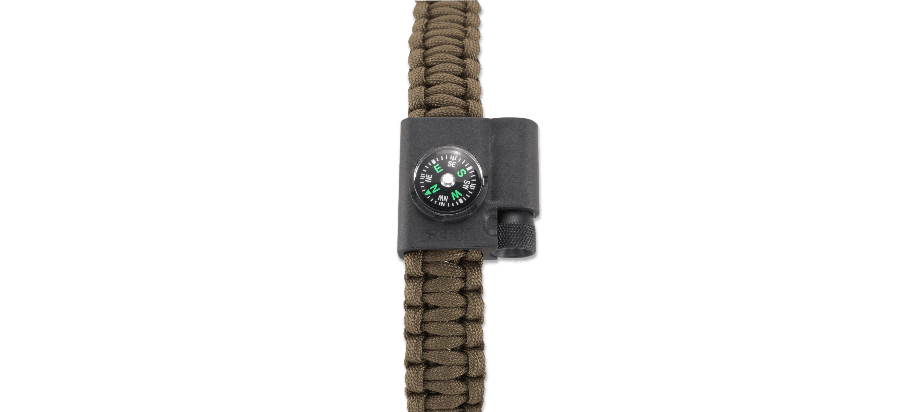 STOKES PARACORD BRACELET ACCESSORY - COMPASS AND FIRESTARTER